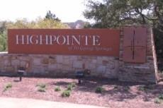 The sign at the entry to Highpointe