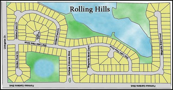 Rolling Hills Estates Kissimmee Map