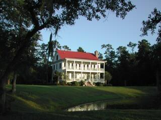 Mount Pleasant Plantation Home with red metal roof