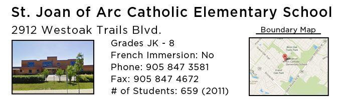 st joan of arc catholic elementary school oakville