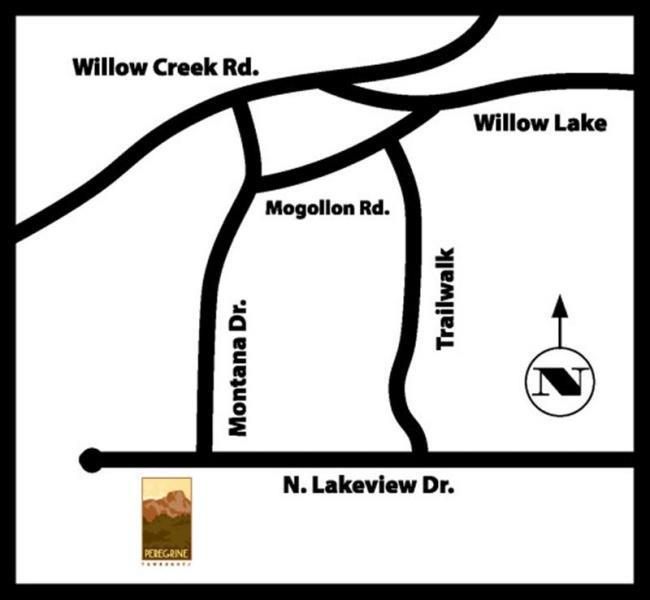 Directions Map to Peregrine Townhomes Prescott Arizona