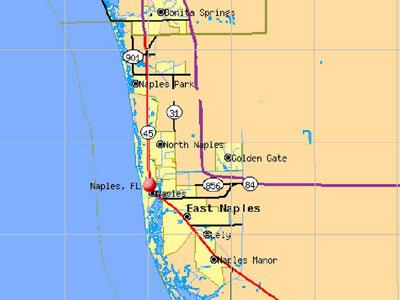 SW Florida - Naples map
