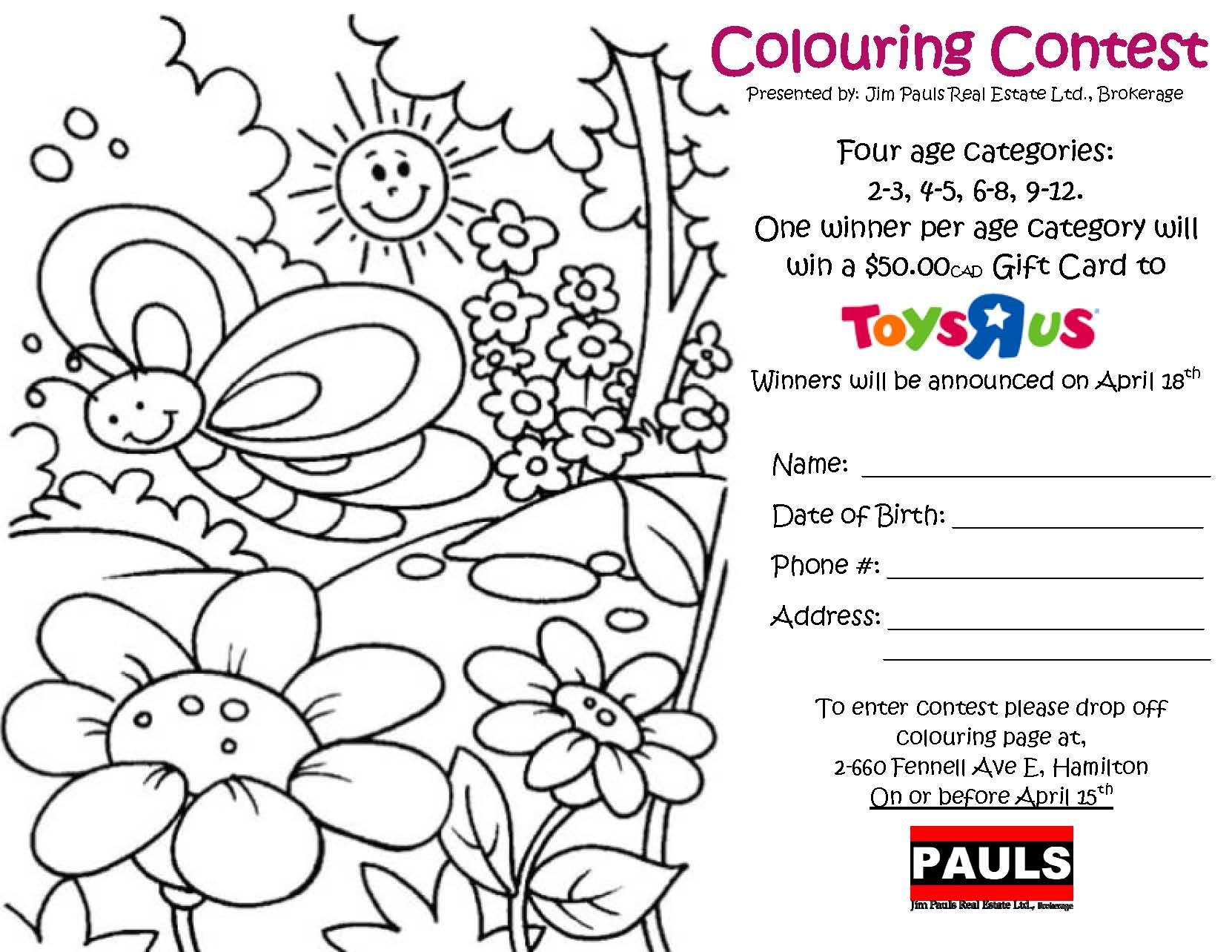 Spring Colouring Contest - Jim Pauls Real Estate