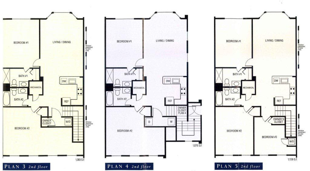 five floor plans for turnberry park