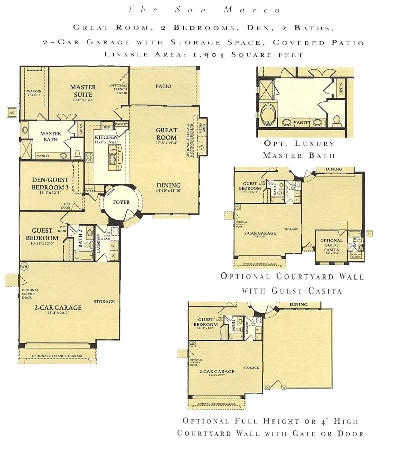 Corte Bella San Marco floor plan model