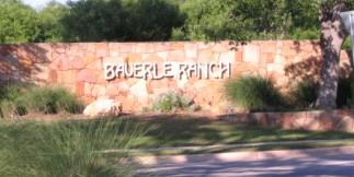 Sign at the Lindshire entrance to Bauerle Ranch in South Austin.