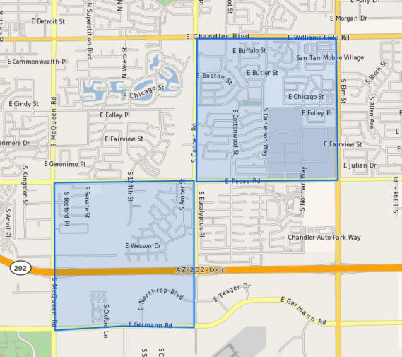 CTA–Humphrey_Elementary_School_Homes_for_Sale Boundary Map