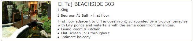 El Taj Beachside 303