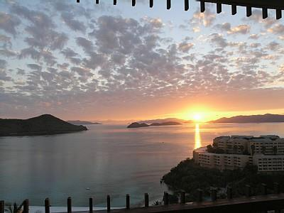 St. Thomas condo rental - Sunrise from the balcony