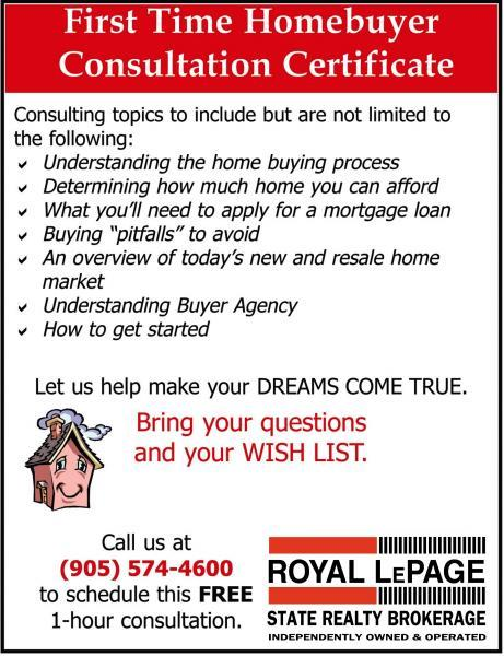 First time home buying consultation for Hamilton home buyers
