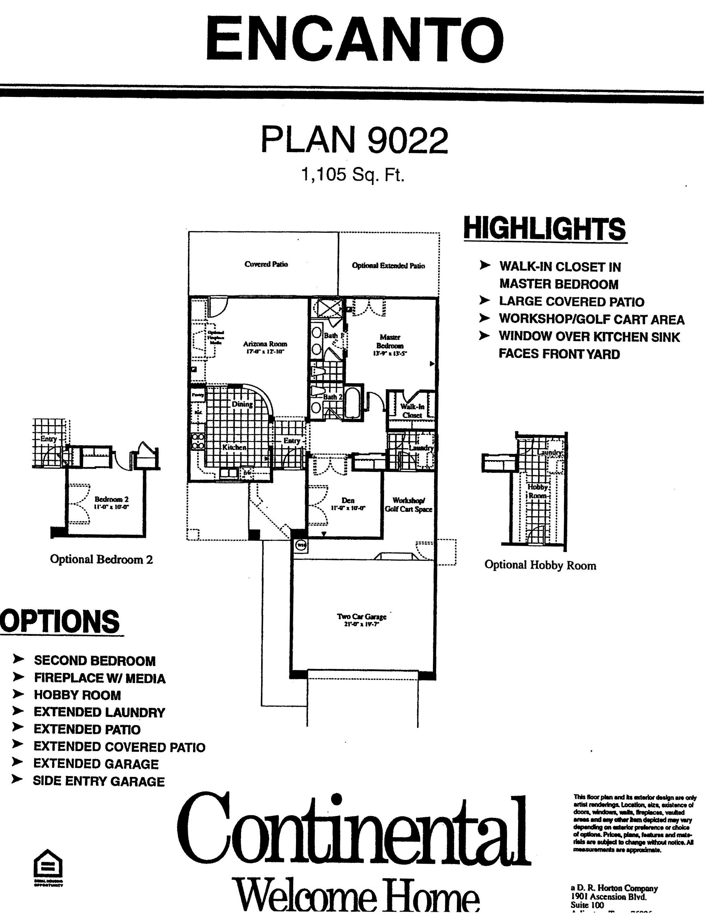 arizona traditions encanto floor plans plan model home homes floorplans surprise az arizona