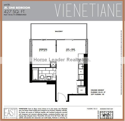 East fifty five condos floor plans