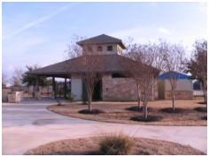 A view of the very nice community center in Highland Park (South) in Pflugerville, TX.