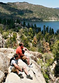 Hikers at Big Bear Lake