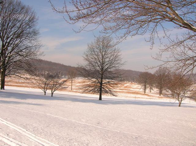 Snow on the ground at Valley Forge