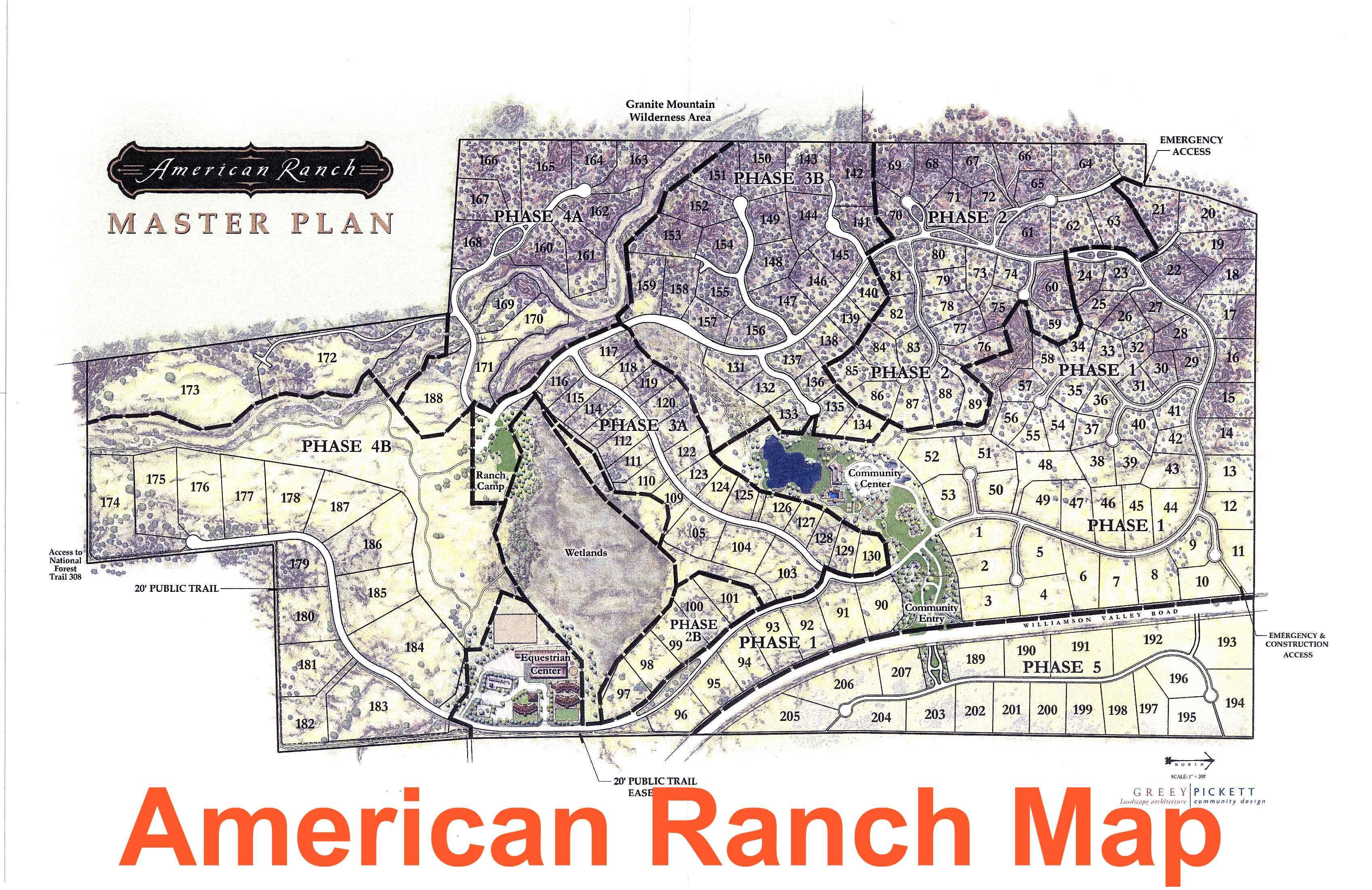 American Ranch Map