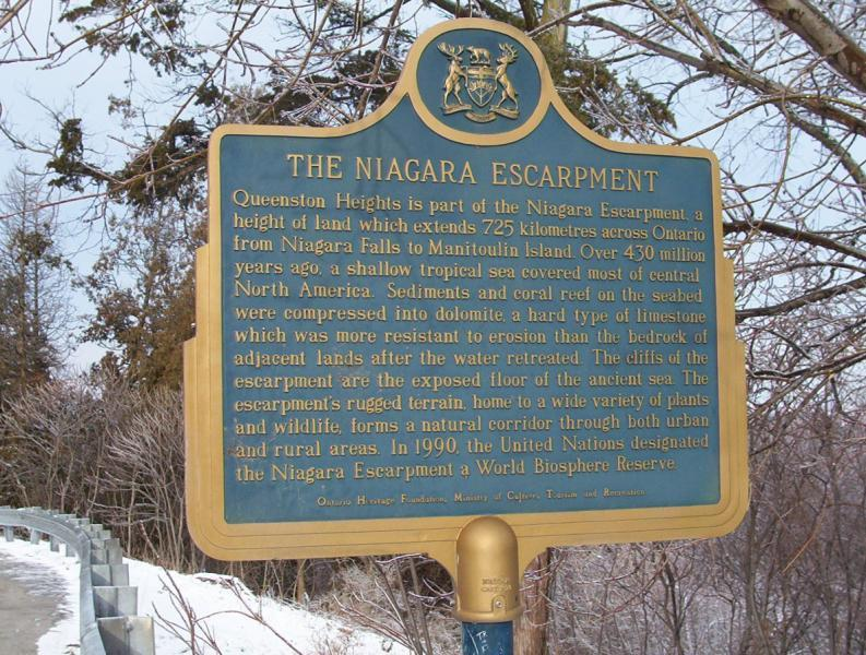 Niagara Escarpment in NOTL