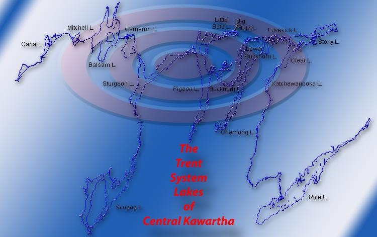 The Trent Severn Canal Map - Lakes of Central Ontario