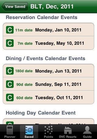 DVC Planner App screenshot 2