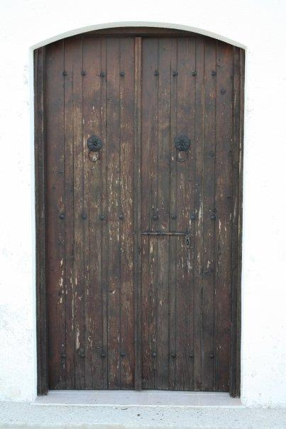 Door on a traditional Cypriot village home
