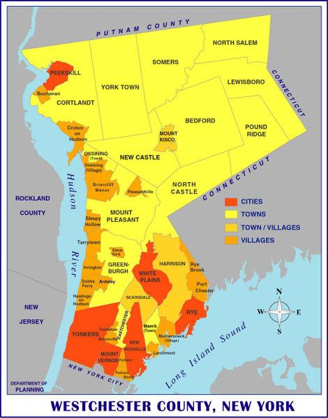 Click On Westchester County Map To Start Application!