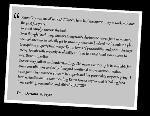 Testemonial from Dr. J. Dorward  R. Psych.