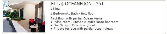 El Taj Oceanfront 351