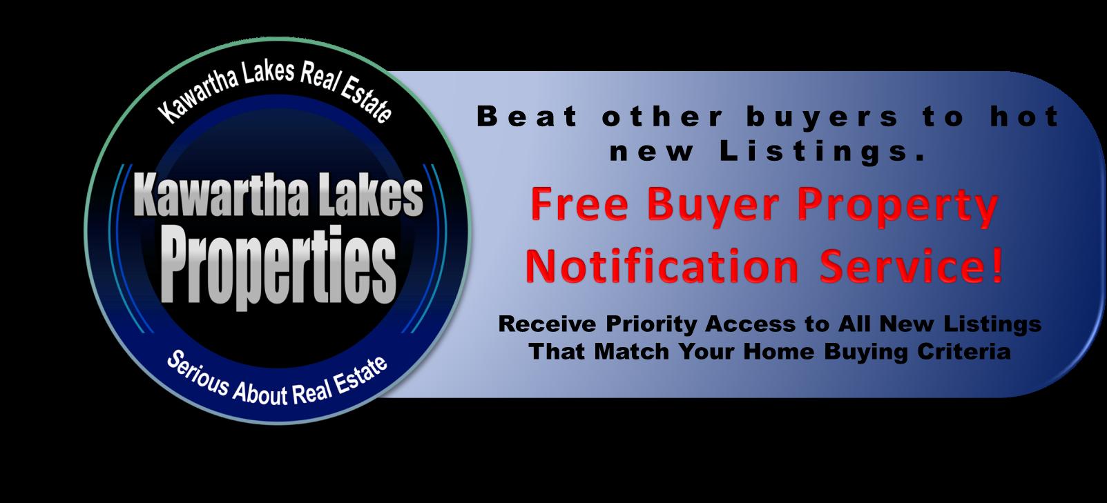 Kawartha Lakes Custom Buyers VIP Property Notification Service
