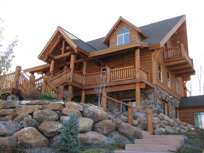 California Log Home Kits And Pre Built Log Homes Custom