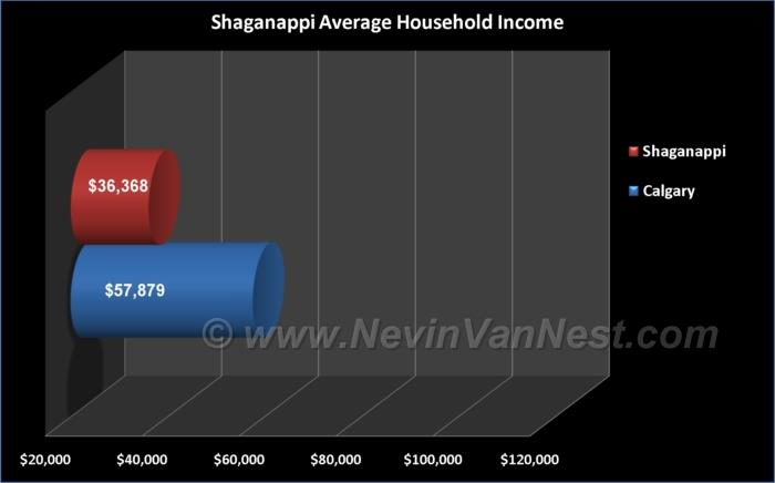 Average Household Income For Shaganappi Residents