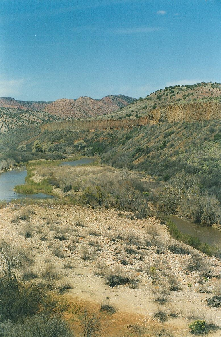 The Verde River Canyon, as seen from the Verde Canyon Railroad in Clarkdale, Arizona