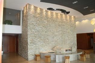 Solstice condominium lobby water fountain