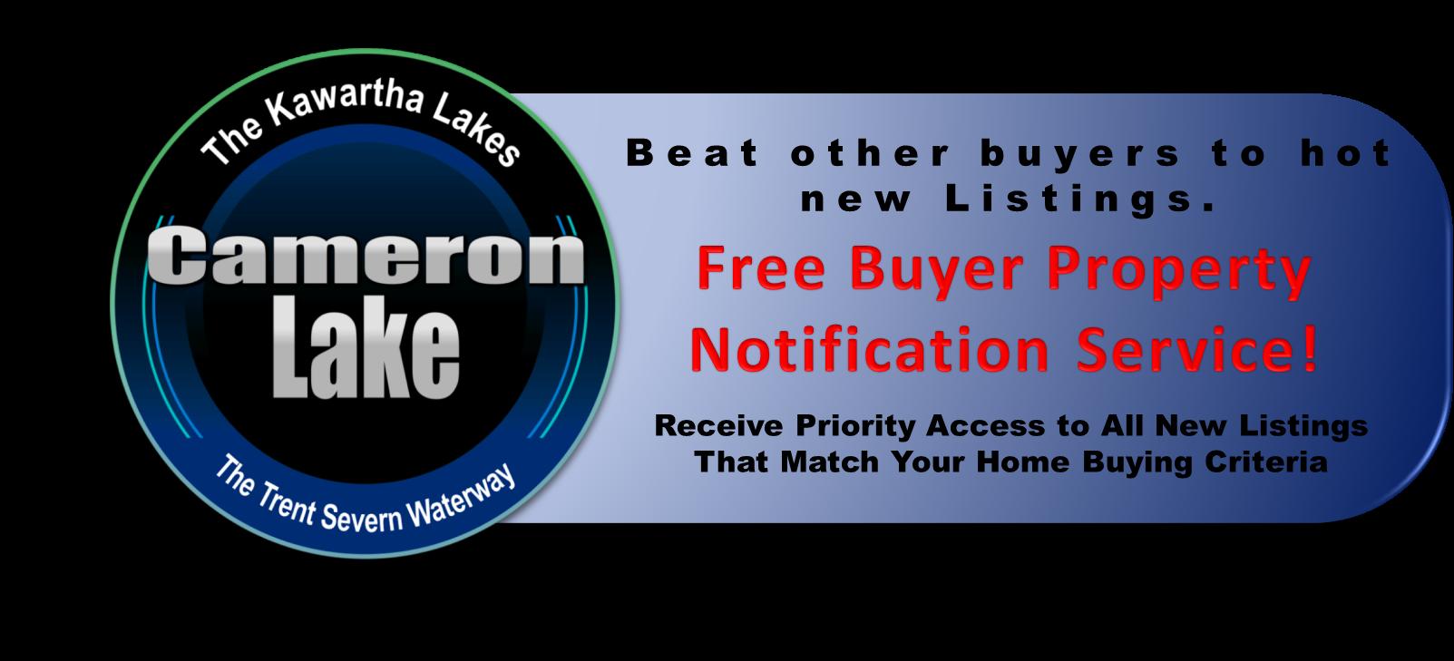 Cameron Lake Real Estate - Waterfront Listing Notification Service