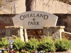 Sign at the entrance to Waterloo/Overland Park subdivision from Manchaca Road