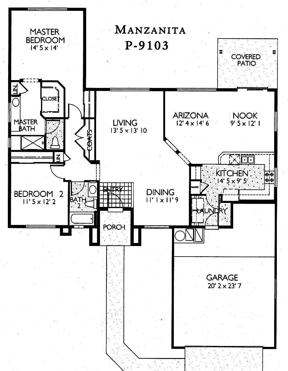 Sun City Grand Manzanita floor plan, Del Webb Sun City Grand Floor Plan Model Home House Plans Floorplans Models in Surprise Phoenix Arizona AZ Ken Meade Realty Kathy Anderson
