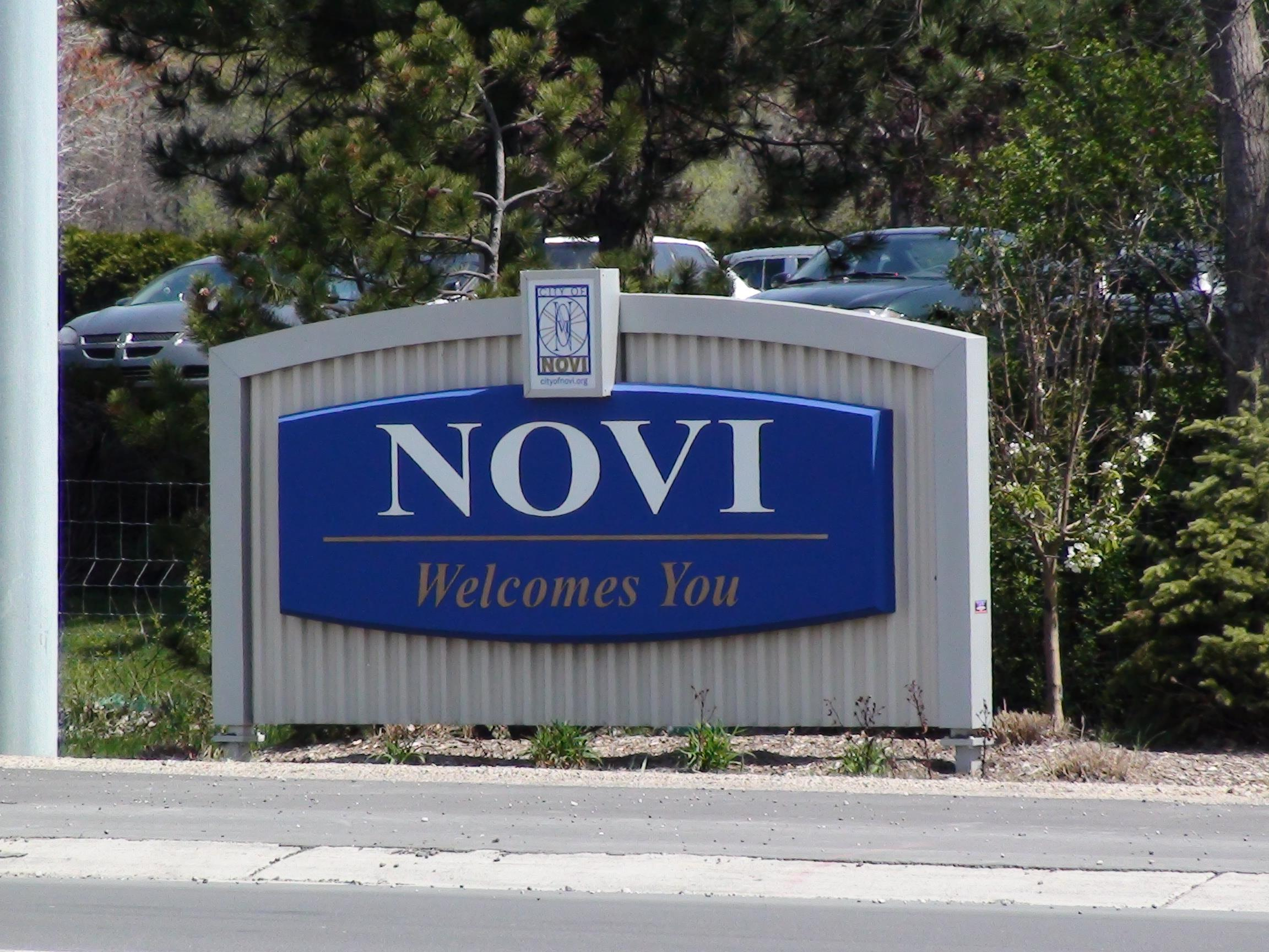 Novi Michigan Real Estate- City Welcome Sign