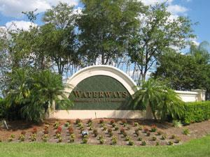 Waterways Naples Fl community sign