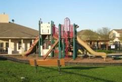 A late afternoon view of the play area at the Reserve at Westcreek in Pflugerville.