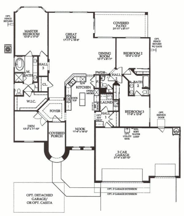 Sun city festival veranda floor plan floorplan del webb for Az home plans