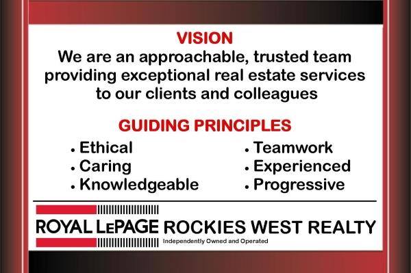 Rockies West Realty Vision Statement