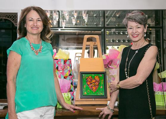 Lise Bousquet, Artist (on the left) and Marie Paule Lancup, REALTOR.