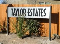 Taylor Estates South Austin entry sign
