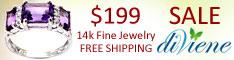 14K Three-Stone Ring $199 + Free Shipping