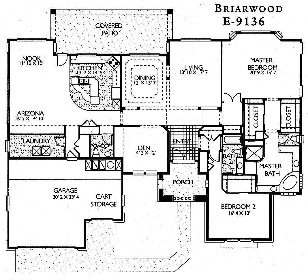 Sun city grand briarwood floor plan del webb sun city for Model home floor plans