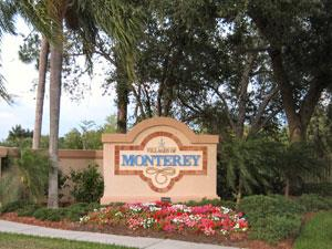 Monterey Naples Fl community sign