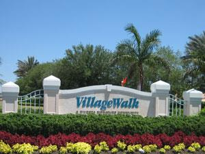 Village Walk Naples Fl community entrance sign