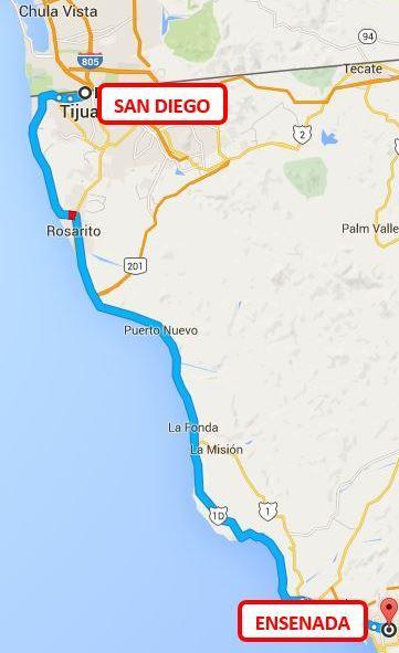 ENSENADA -CONDOS DISTANCE TO THE SAN DIEGO BORDER