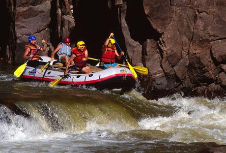 Rafting on the Green River in Colorado National Monument.