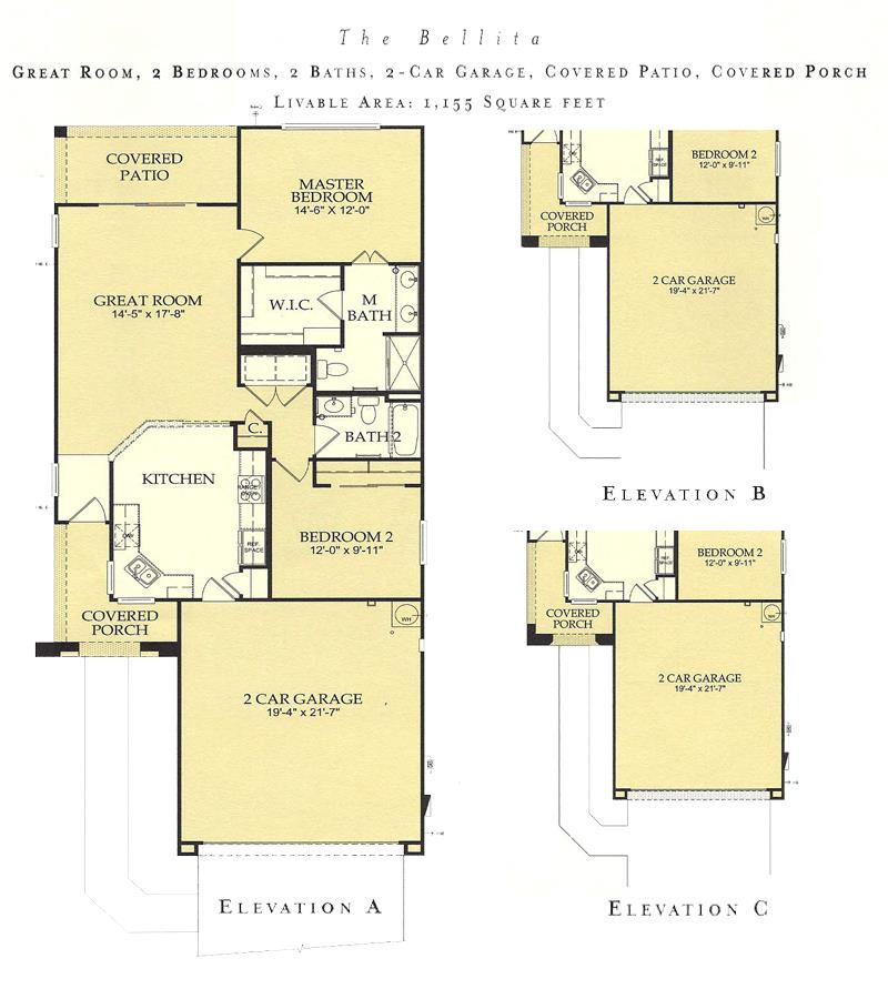Corte Bella Bellita floor plan model