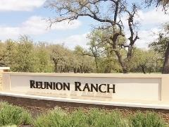 Sign at the entrance to Southwest Austin's Reunion Ranch subdivision.